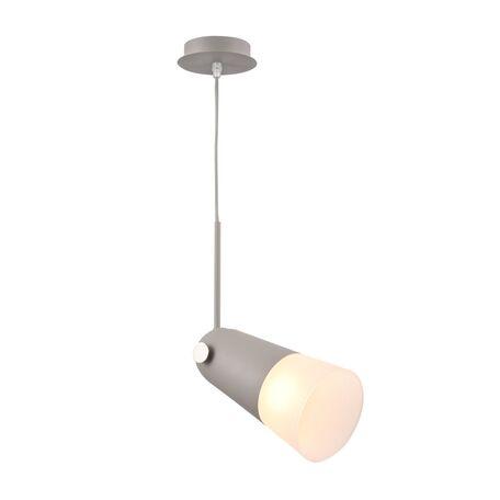 Подвесной светильник с регулировкой направления света Maytoni Novara MOD619PL-01GR, 1xE14x40W, серый, белый, металл, стекло