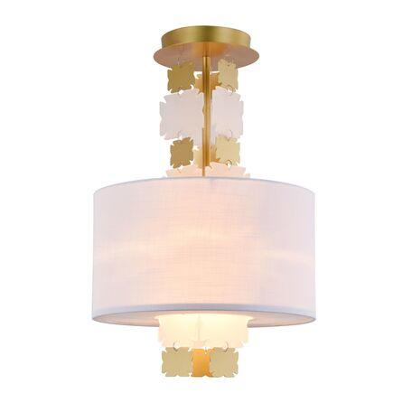 Потолочный светильник Maytoni Valencia H601PL-01BS, 1xE27x60W, латунь, белый, металл, текстиль