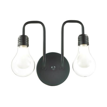 Бра Lumion Lofti Nattu 3636/2W, 2xG9x40W, черный, прозрачный, металл, стекло