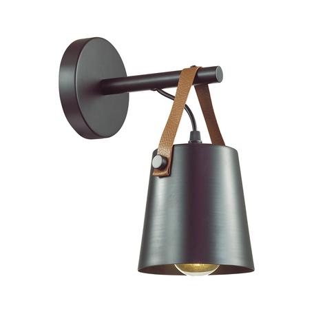 Бра Lumion Lofti Tristen 3641/1W, 1xE27x60W, черный, металл, кожа
