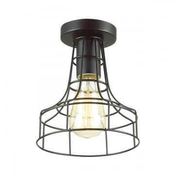 Потолочный светильник Lumion Alfred 3639/1C, 1xE27x60W, черный, металл