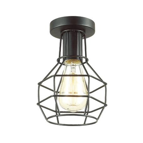 Потолочный светильник Lumion Lofti Harald 3637/1C, 1xE27x60W, черный, металл