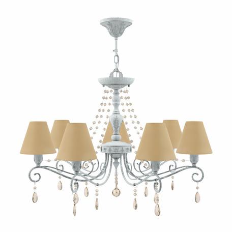 Потолочно-подвесная люстра Maytoni Provence 24 E4-07-G-LMP-O-23-CRL-E4-07-CH-UP, 7xE14x40W, серый, желтый, янтарь, металл, текстиль, хрусталь