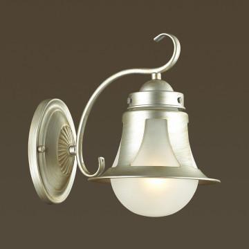 Бра Lumion Arteana 3603/1W, 1xE27x60W, серебро, белый, металл, стекло - миниатюра 3
