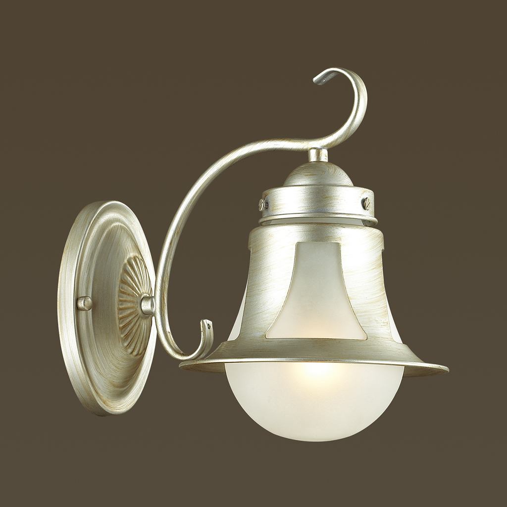 Бра Lumion Arteana 3603/1W, 1xE27x60W, серебро, белый, металл, стекло - фото 3