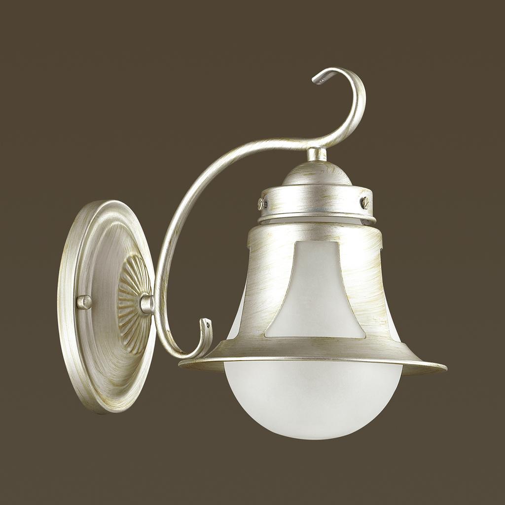 Бра Lumion Arteana 3603/1W, 1xE27x60W, серебро, белый, металл, стекло - фото 4