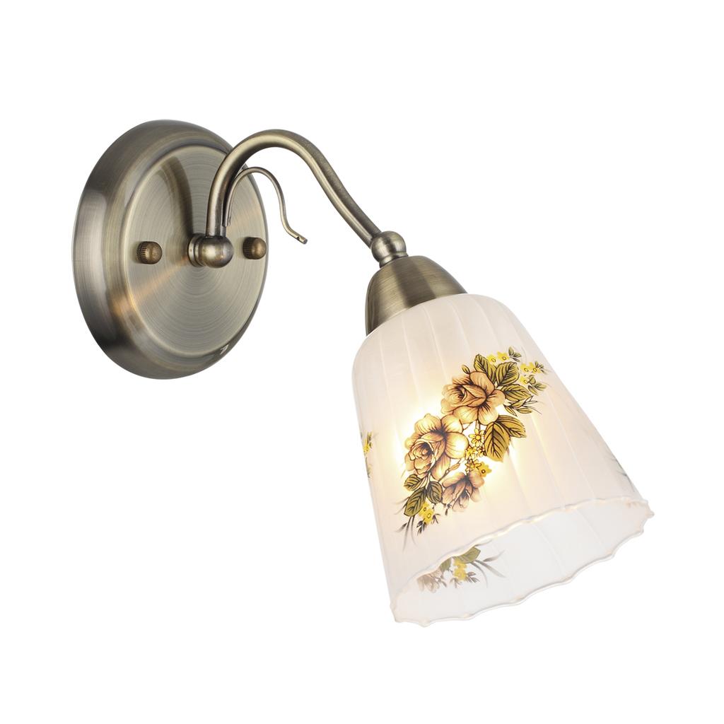 Бра Lumion Paessaggio 3618/1W, 1xE14x60W, бронза, разноцветный, металл, стекло - фото 1