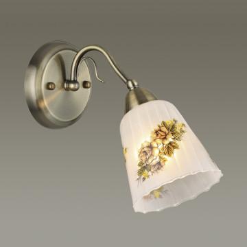 Бра Lumion Paessaggio 3618/1W, 1xE14x60W, бронза, разноцветный, металл, стекло - миниатюра 3