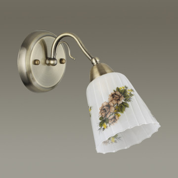 Бра Lumion Paessaggio 3618/1W, 1xE14x60W, бронза, разноцветный, металл, стекло - миниатюра 4