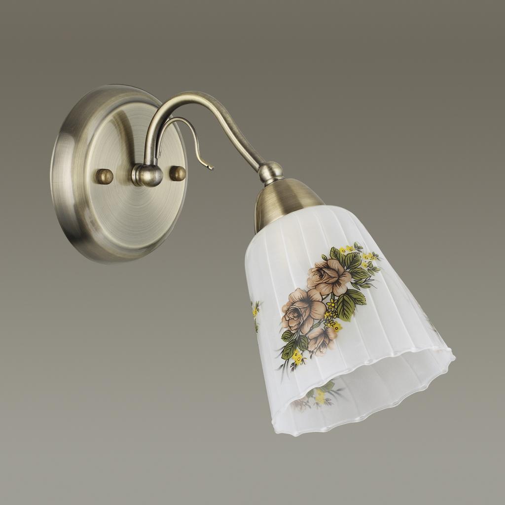 Бра Lumion Paessaggio 3618/1W, 1xE14x60W, бронза, разноцветный, металл, стекло - фото 4
