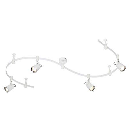 Гибкая система освещения Odeon Light Modern Flexi White 3628/4TR, 4xGU10x50W, белый, хром, металл