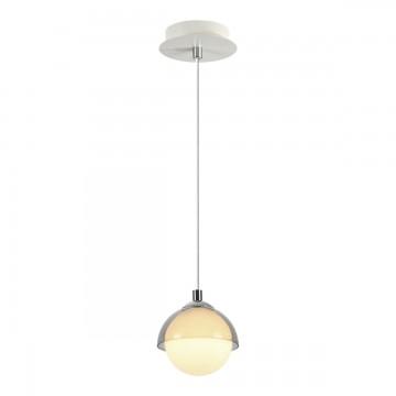 Подвесной светильник Lumion Dondoo 3597/1, 1xG9x40W, белый, хром, дымчатый, металл, стекло