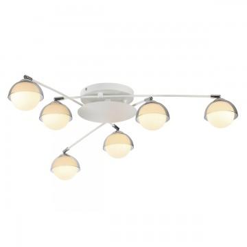 Потолочная люстра с регулировкой направления света Lumion Dondoo 3597/6C, 6xG9x40W, белый, хром, дымчатый, металл, стекло - миниатюра 1