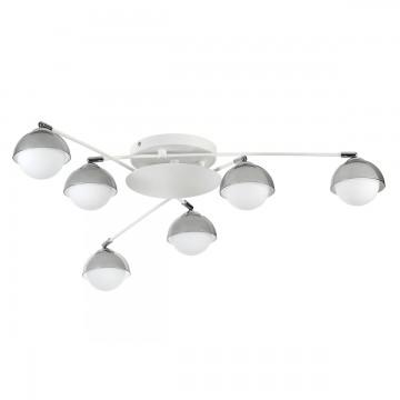 Потолочная люстра с регулировкой направления света Lumion Dondoo 3597/6C, 6xG9x40W, белый, хром, дымчатый, металл, стекло - миниатюра 2