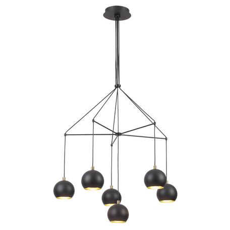 Люстра-каскад Lumion Moderni Neruni 3635/6, 6xG9x40W, черный, металл