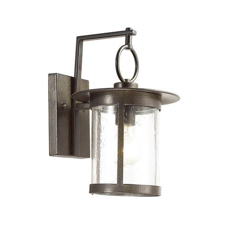 Настенный фонарь Odeon Light House 4039/1W, IP44, 1xE27x60W, бронза, прозрачный, металл, стекло
