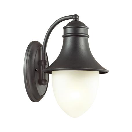 Настенный фонарь Odeon Light House 4041/1W, IP44, 1xE27x60W, черный, белый, металл, стекло