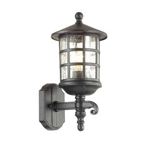 Настенный фонарь Odeon Light House 4043/1W, IP44, 1xE27x60W, черный, прозрачный, металл, стекло