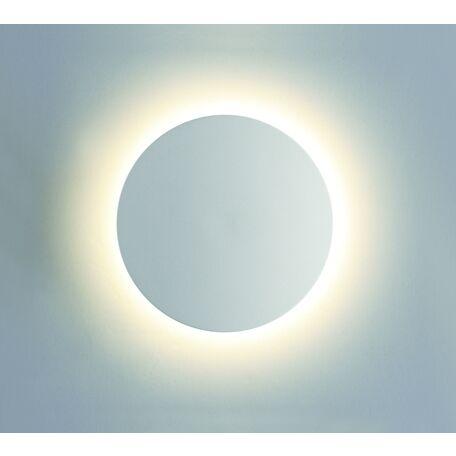 Настенный светодиодный светильник Odeon Light Hightech Eclissi 3633/9WL, IP54, LED 9W 4000K 870lm, белый, металл