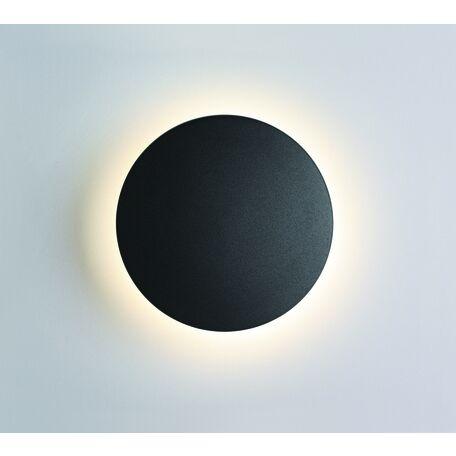 Настенный светодиодный светильник Odeon Light Eclissi 3634/6WL, IP54, LED 6W 4000K 560lm, черный, металл