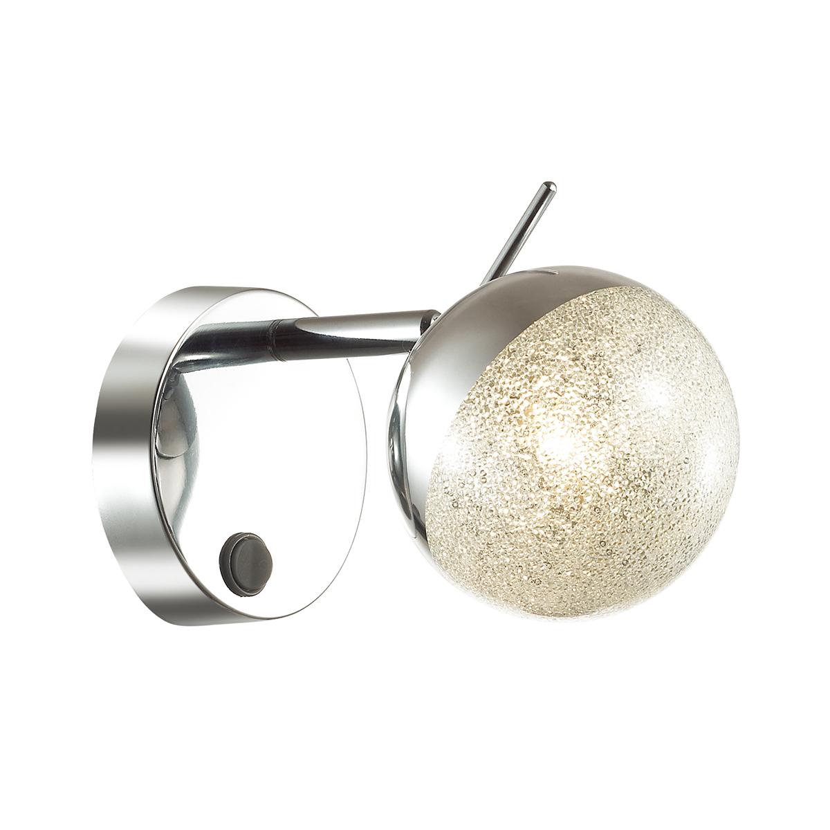 Настенный светильник с регулировкой направления света Lumion Gala 3632/1W, хром, матовый, металл, стекло - фото 1