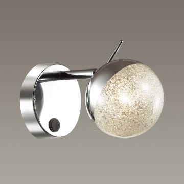 Настенный светильник с регулировкой направления света Lumion Gala 3632/1W, хром, матовый, металл, стекло - миниатюра 3