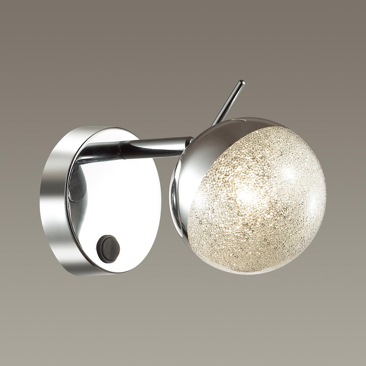 Настенный светильник с регулировкой направления света Lumion Gala 3632/1W, хром, матовый, металл, стекло - фото 3