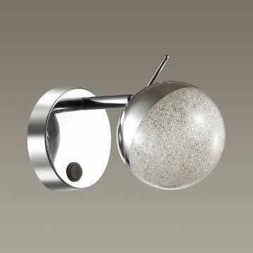 Настенный светильник с регулировкой направления света Lumion Gala 3632/1W, хром, матовый, металл, стекло - миниатюра 4