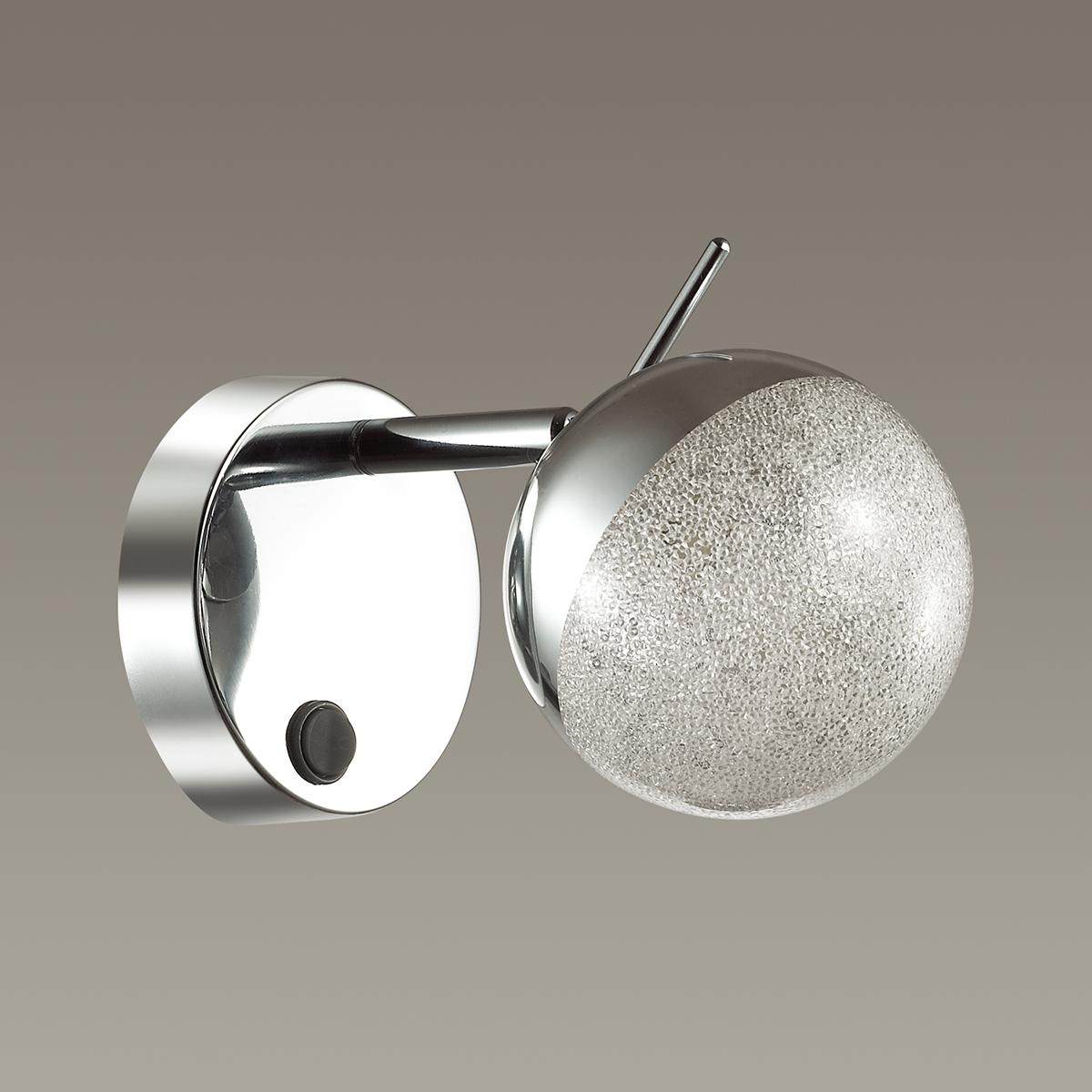 Настенный светильник с регулировкой направления света Lumion Gala 3632/1W, хром, матовый, металл, стекло - фото 4
