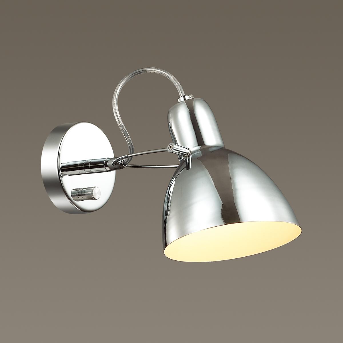Настенный светильник с регулировкой направления света Odeon Light Credo 3952/1W, 1xE27x60W, хром, металл - фото 1