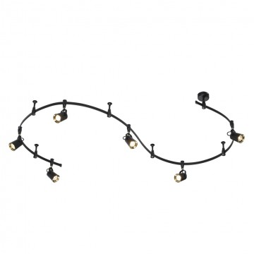 Гибкая система освещения Odeon Light Flexi Black 3629/6TR, 6xGU10x50W, черный, бронза, металл