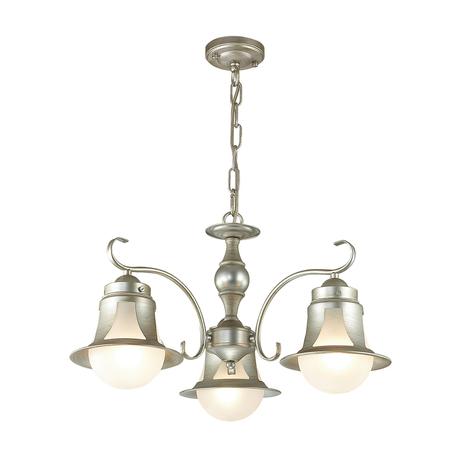 Подвесная люстра Lumion Arteana 3603/3, 3xE27x60W, серебро, белый, металл, стекло