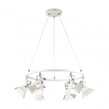 Подвесная люстра с регулировкой направления света Odeon Light Techno Pro 3631/6, 6xGU10x50W, белый, металл