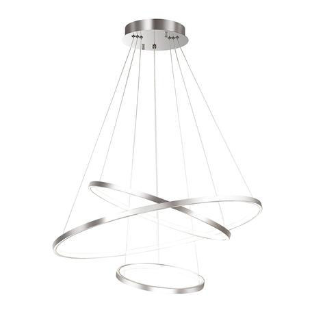 Подвесной светодиодный светильник Odeon Light L-Vision Saturno 3963/99L, LED 114W 4000K 4539lm, хром, металл, металл с пластиком, пластик