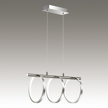 Подвесной светодиодный светильник Odeon Light Ringgi 3970/48L, хром, металл, пластик