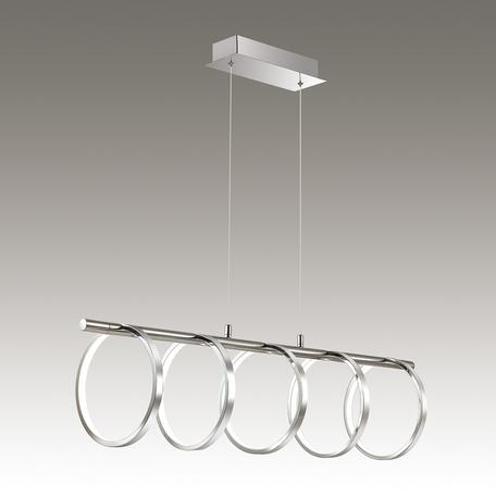 Подвесной светодиодный светильник Odeon Light Ringgi 3970/80L, LED 80W, 4000K (дневной), хром, металл, пластик