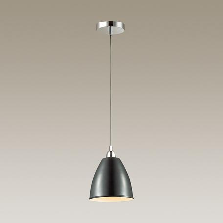 Подвесной светильник Odeon Light Trina 3974/1, 1xE27x60W, хром, черный, металл