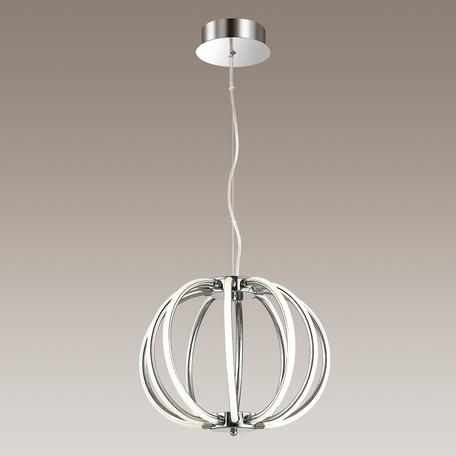 Подвесной светодиодный светильник Odeon Light L-Vision Alfi 4024/85CL, LED 85W 4000K 5100lm, хром, металл, пластик