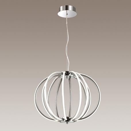 Подвесной светодиодный светильник Odeon Light Alfi 4024/99CL, LED 132W, 4000K (дневной), хром, металл, пластик