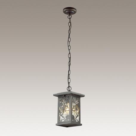 Подвесной светильник Odeon Light Papion 4038/1, IP44, 1xE27x100W, черный, прозрачный, металл, стекло