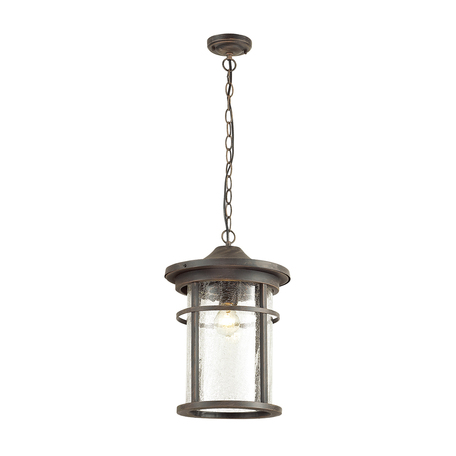 Подвесной светильник Odeon Light Virta 4044/1, IP44, 1xE27x100W, черный с золотой патиной, прозрачный, металл, металл со стеклом