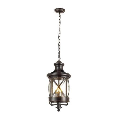 Подвесной светильник Odeon Light Sation 4045/3, IP44, 3xE14x60W, черный, прозрачный, металл, ковка, металл со стеклом