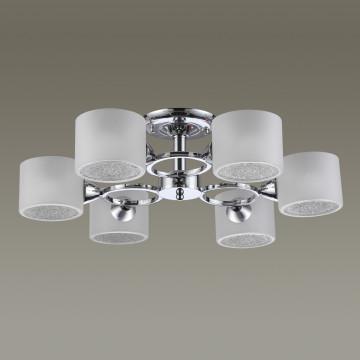 Потолочная люстра Lumion Keane 3612/6C, 6xE14x40W, хром, матовый, металл, стекло - миниатюра 4
