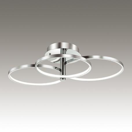 Потолочная светодиодная люстра Odeon Light Ringgi 3970/76L, LED 76W, 4000K (дневной), хром, металл, пластик - миниатюра 1