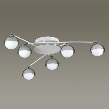 Потолочная люстра с регулировкой направления света Lumion Dondoo 3597/6C, 6xG9x40W, белый, хром, дымчатый, металл, стекло - миниатюра 4