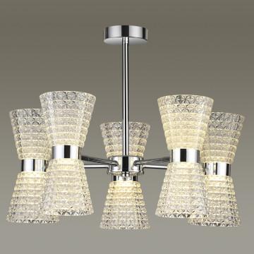 Потолочная светодиодная люстра с регулировкой направления света Lumion Boccale 3599/60CL, LED 60W 4000K 4800lm, хром, прозрачный, металл, пластик - миниатюра 3