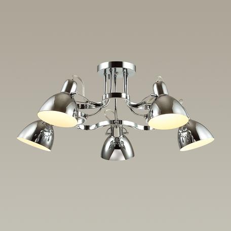 Потолочная люстра с регулировкой направления света Odeon Light Classic Credo 3952/5C, 5xE27x60W, хром, металл