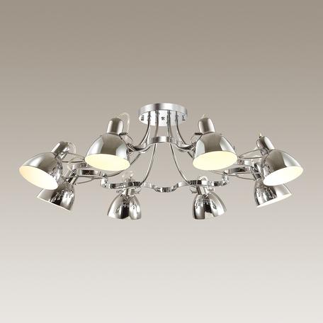 Потолочная люстра с регулировкой направления света Odeon Light Credo 3952/8C, 8xE27x60W, хром, металл