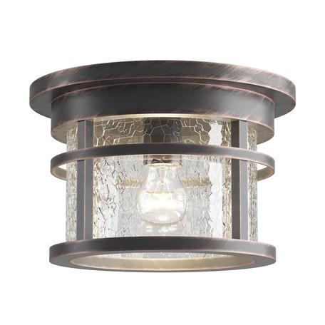 Потолочный светильник Odeon Light Nature Virta 4044/1C, IP44, 1xE27x60W, черный с золотой патиной, прозрачный, металл со стеклом