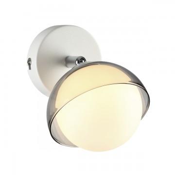 Потолочный светильник с регулировкой направления света Lumion Dondoo 3597/1C, 1xG9x40W, белый, хром, дымчатый, металл, стекло